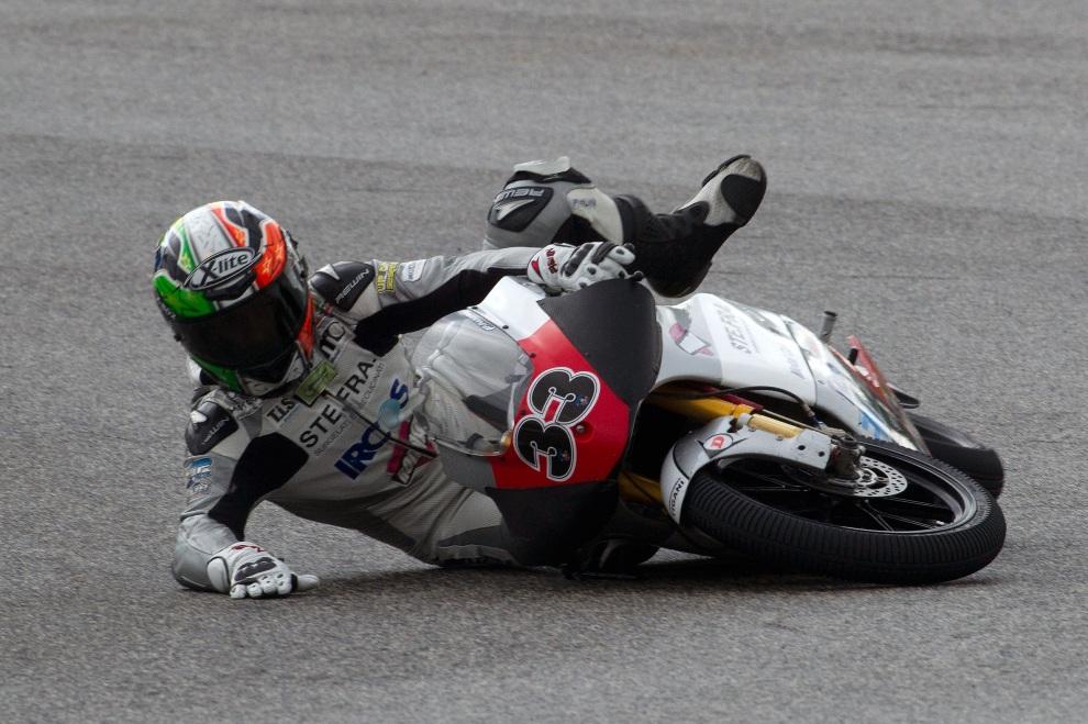28.WŁOCHY, Misano Adriatico, 15 września 2012: Stefano Valtulini podczas MotoGP San Marino. (Foto: Mirco Lazzari gp/Getty Images)