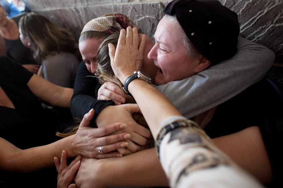 10.IZRAEL, Kirjat Mal'achi, 16 listopada 2012: Pogrzeb jednej z ofiar  palestyńskiego ataku. (Foto: Uriel Sinai/Getty Images)