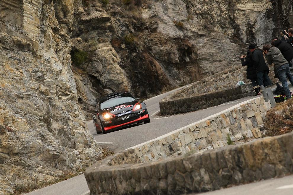 11.MONTE CARLO, Monako, 21 stycznia 2012: Ford Fiesta RS WRC prowadzony przez załogę Matthew Wilson / Scott Martin. (Foto: Massimo Bettiol/Getty Images)