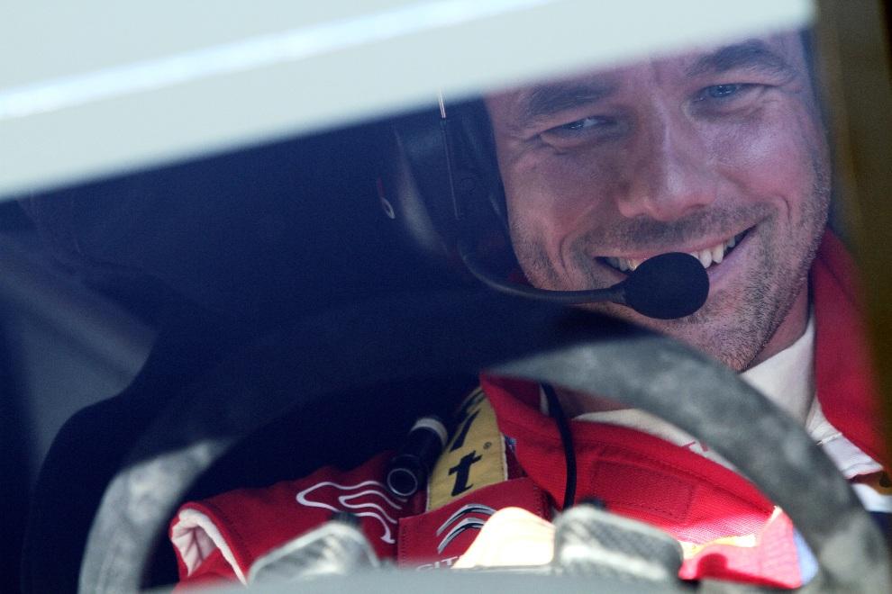 15.MONTE CARLO, Monako, 22 stycznia 2012: Uśmiechnięty Sebastien Loeb. (Foto: Massimo Bettiol/Getty Images)