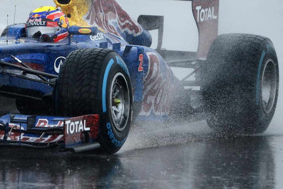 17.WIELKA BRYTANIA, Silverstone, 7 lipca 2012: Mark Webber podczas sesji kwalifikacyjnej przed Grand Prix. AFP PHOTO / ANDREW YATES