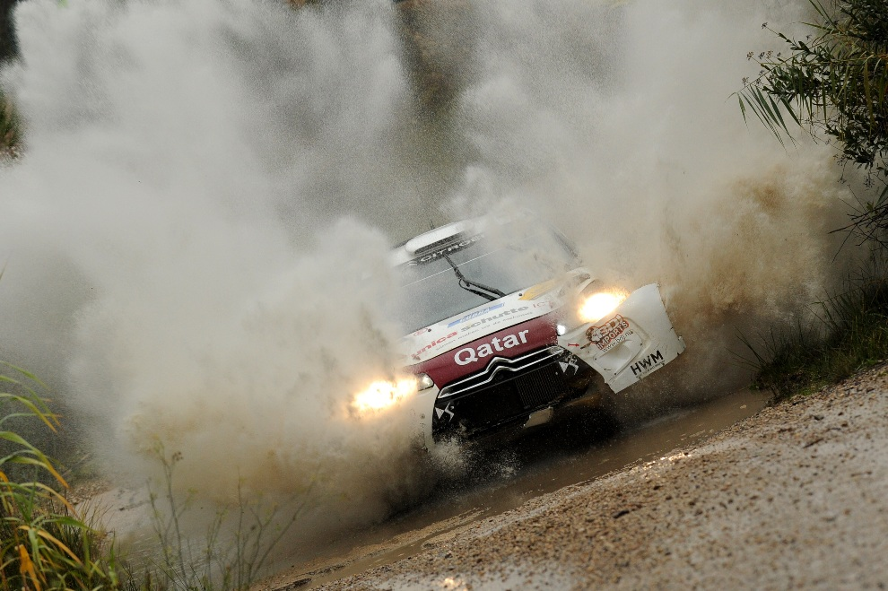 23.HISZPANIA, Salou, 9 listopada 2012: Hans Weijs i Bjorn Degant w samochodzie Qatar WRT Citroen DS3 WRC. (Foto: Massimo Bettiol/Getty Images)
