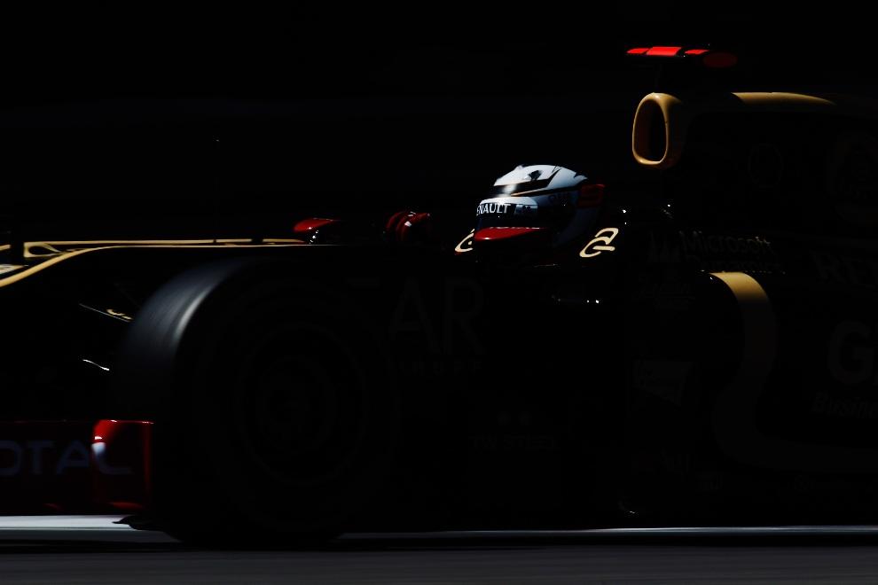 4.KANADA, Montreal, 09 czerwca 2012: Kimi Raikkonen (Lotus) podczas sesji kwalifikacyjnej. (Foto: Paul Gilham/Getty Images)