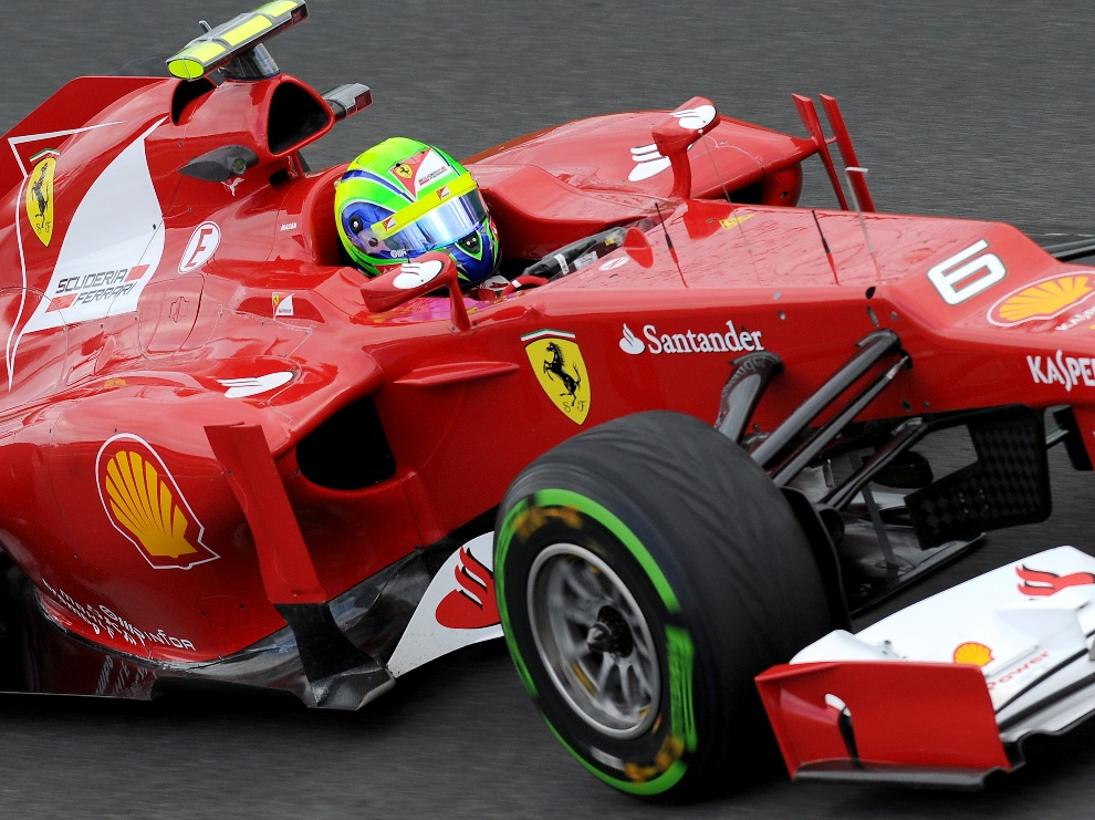 25.	AUSTRALIA, Melbourne, 16 marca 2012: Felipe Massa podczas treningu przed Grand Prix Australii. AFP PHOTO / Paul CROCK