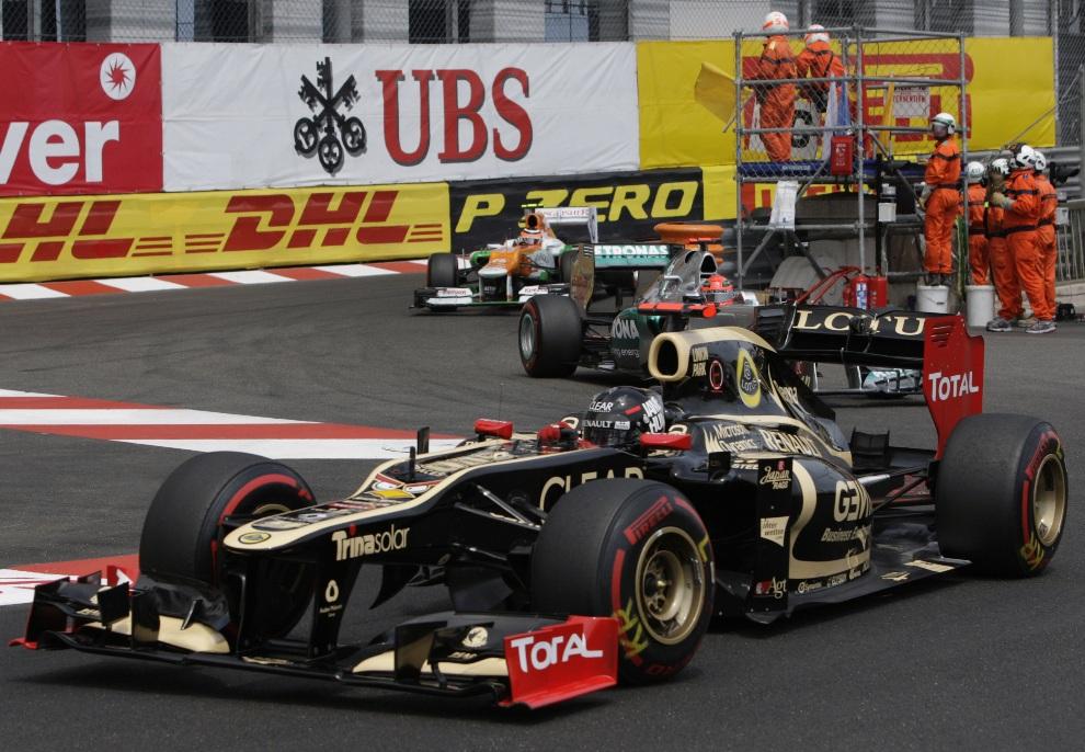 7.MONAKO, 27 maja 2012: Kimi Raikkonen z zespołu Lotus F1. AFP PHOTO / JEAN-CHRISTOPHE MAGNENET