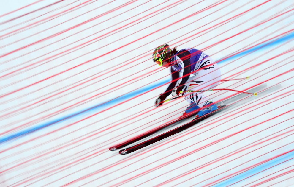 13.FRANCJA, Val-d'Isère, 13 grudnia 2012: Niemka Gina Stechert podczas treningu. AFP PHOTO / FRANCK FIFE