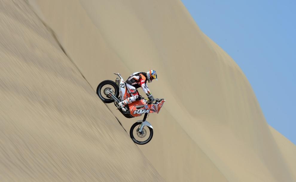 27.PERU, Pisco, 6 stycznia 2013: Ben Grabham z zespołu HSE KTM Australia. (Fotot: Shaun Botterill/Getty Images)