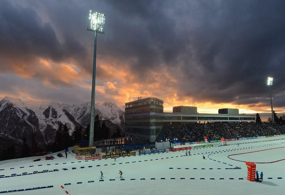 22.ROSJA, Soczi, 10 marca 2013: Trasa biegu narciarskiego. (Foto: Shaun Botterill/Getty Images)