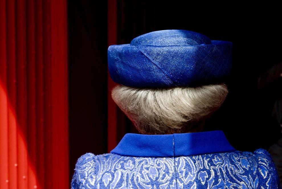 18.HOLANDIA, Haga, 24 kwietnia 2013: Królowa Beatrix podczas otwarcia wystawy w Grote Kerk. AFP PHOTO / ANP / ROBIN UTRECHT