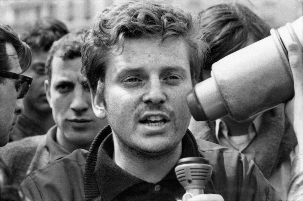 8.FRANCJA, Paryz, 18 maja 1968: Daniel Cohn-Bendit, przewódca skrajnie lewicowych studentów. AFP