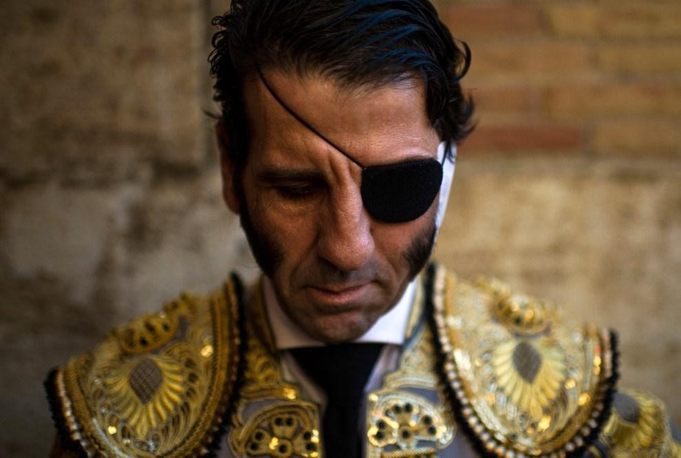 1. HISZPANIA, Walencja, 18 marca 2013: Matador Juan Jose Padilla przed rozpoczęciem corridy. (Foto: David Ramos/Getty Images)