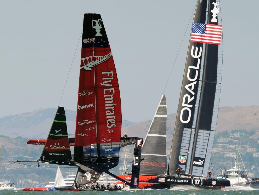 32.USA, San Francisco, 14 września 2013: 34. regaty America's Cup. AFP PHOTO/Don Emmert