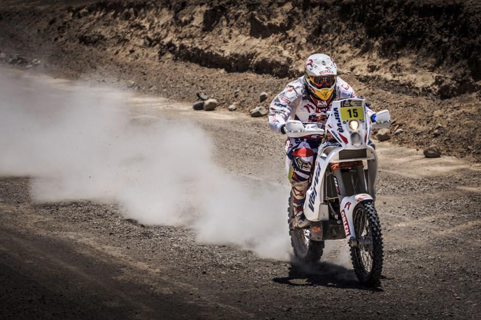 21.CHILE, La Serena, 18 stycznia 2014: Jakub Przygoński (KTM) z ORLEN team na trasie 12. etapu Rajdu Dakar z El Salvador do La Serena . PAP/Orlen Team/Marcin Kin