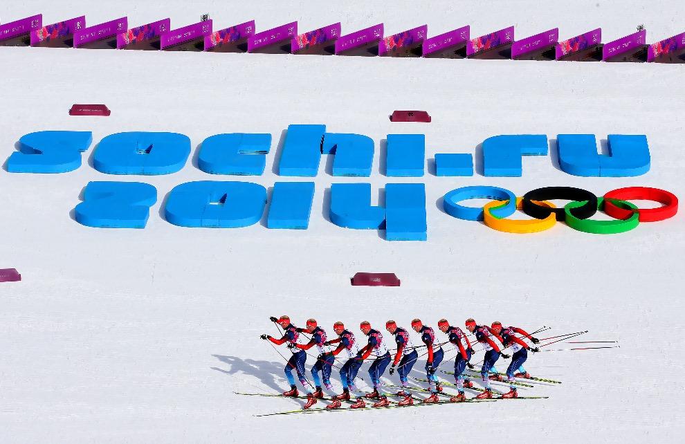 11.ROSJA, Soczi, 23 lutego 2014: Konstantin Glavatskikh na trasie biegu na dystansie 50 km (zdjęcie sekwencyjne). (Foto: Alexander Hassenstein/Getty Images)