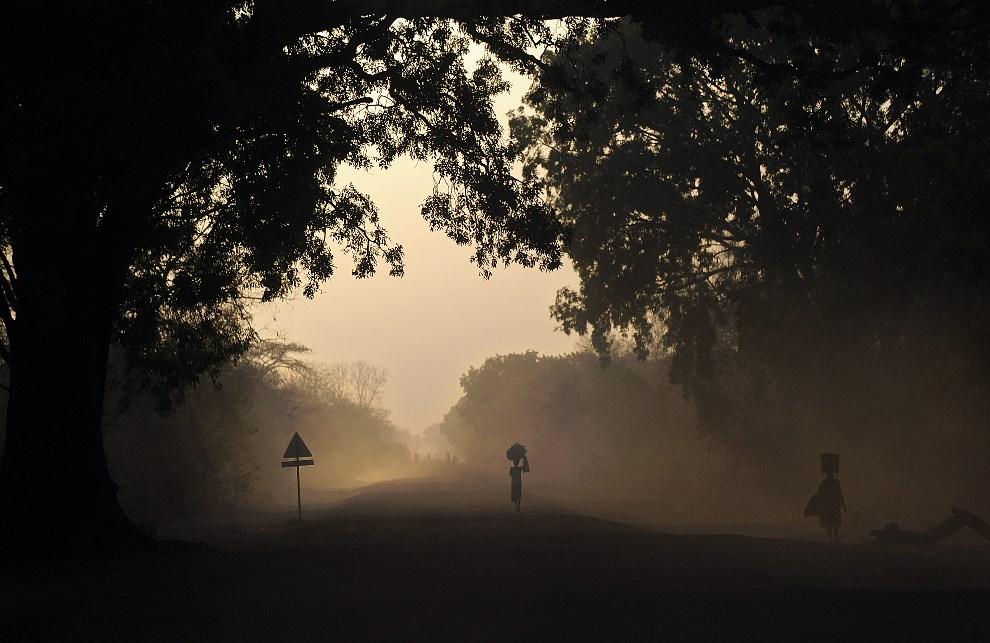 17.SUDAN POŁUDNIOWY, Cueibet, 20 lutego 2014: Droga prowadząca do miejscowości Cueibet  - siedziby plemienia Dinka. AFP PHOTO/Tony KARUMBA