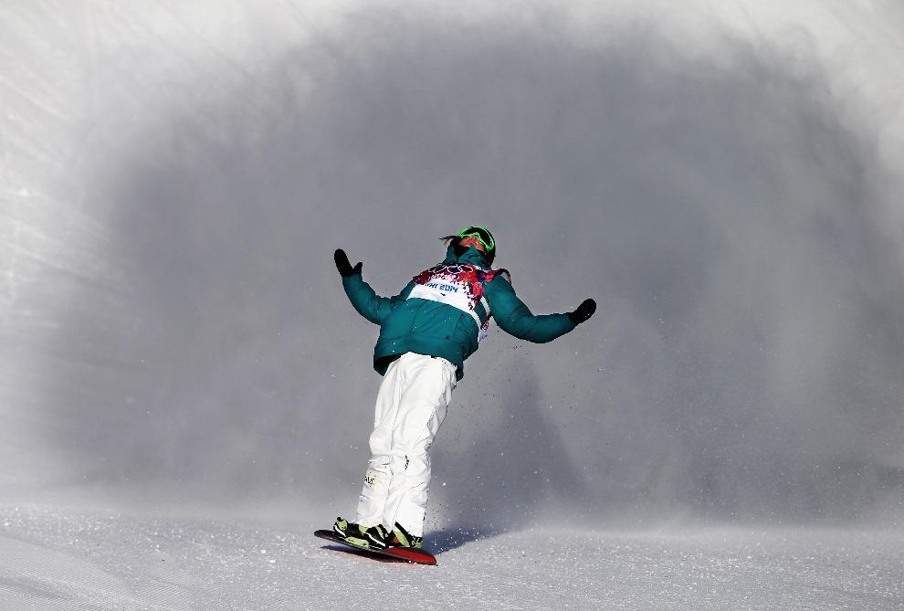 17. ROSJA, Soczi, 8 lutego 2014: Australijczyk Scotty James po swoim przejeździe półfinałowym slopestyle. (Foto: Ryan Pierse/Getty Images)