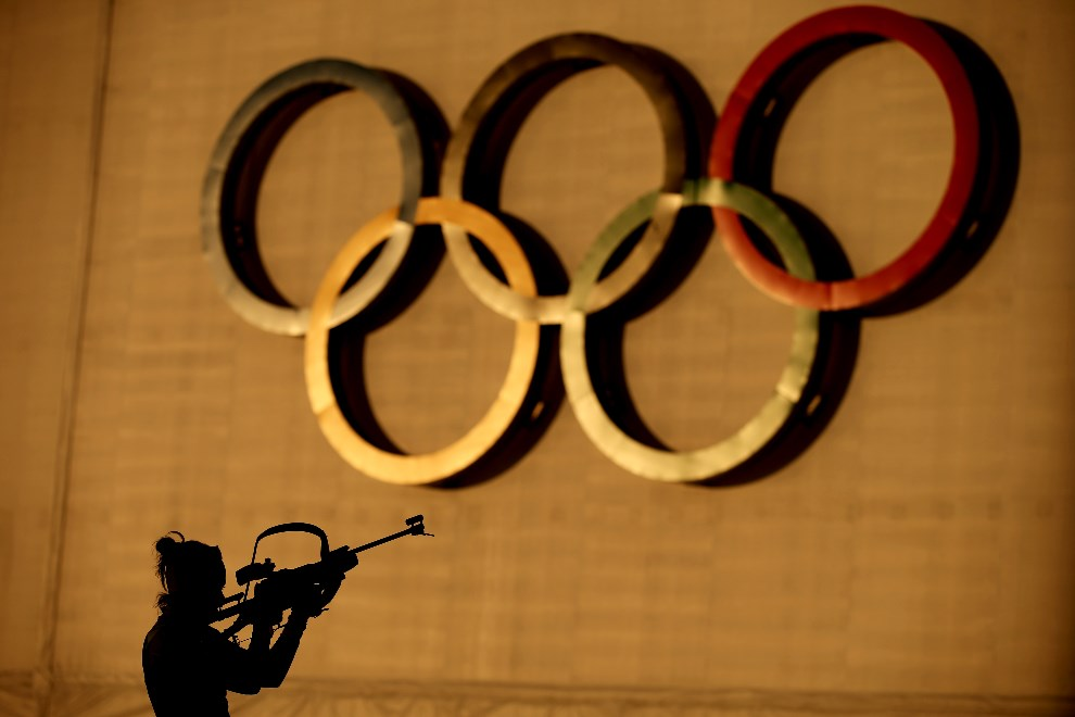 19. ROSJA, Soczi, 6 lutego 2014: Sesja treningowa biatlonistów. (Foto: Richard Heathcote/Getty Images)