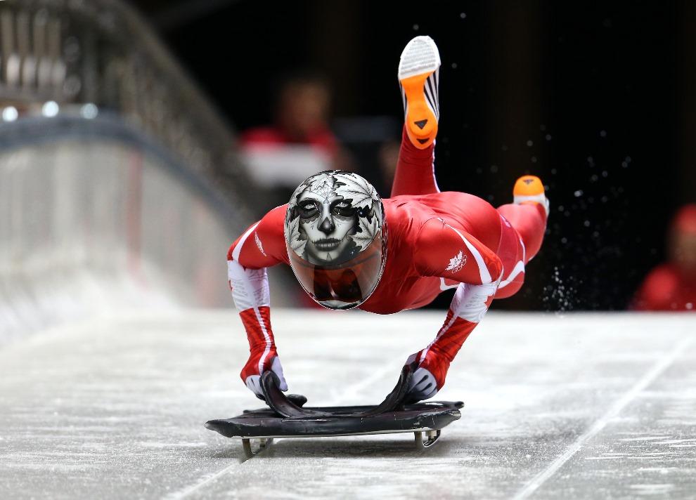 21. ROSJA, Soczi, 5 lutego 2014: Kanadyjka Sarah Reid podczas treningu. (Foto: Alex Livesey/Getty Images)