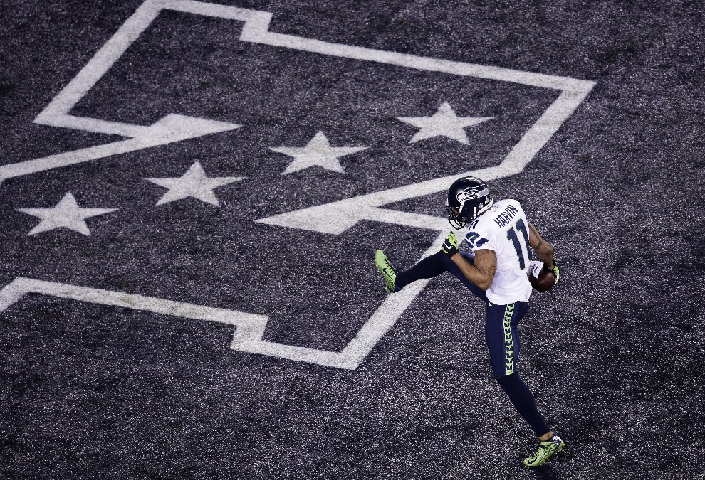 23.USA, East Rutherford, 2 lutego 2014: Percy Harvin po zdobyciu punktów. (Foto: Win McNamee/Getty Images)