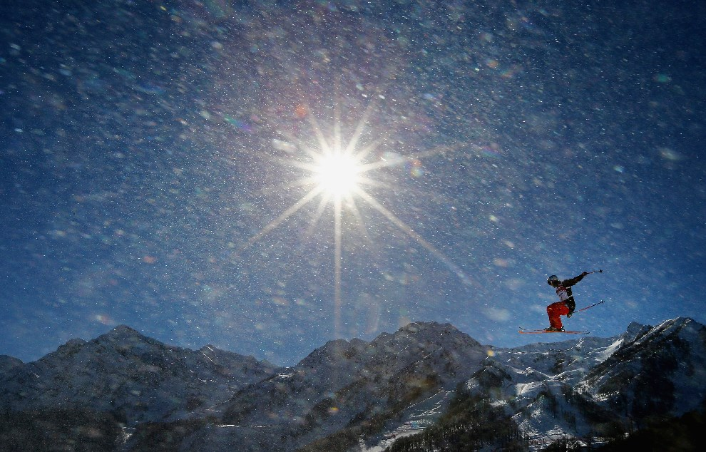23.ROSJA, Krasna Polana, 3 lutego 2014: Przejazd treningowy w Extreme Park. (Foto: Al Bello/Getty Images)