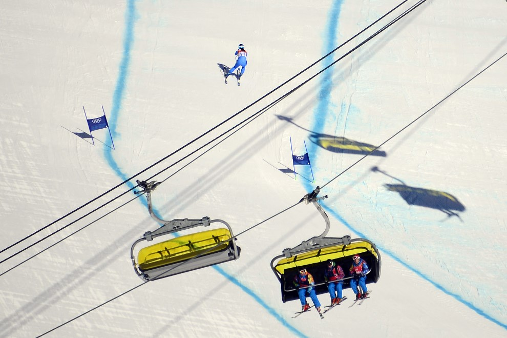 24.ROSJA, Krasna Polana, 7 lutego 2014: Tina Maze podczas treningu. AFP PHOTO / OLIVIER MORIN