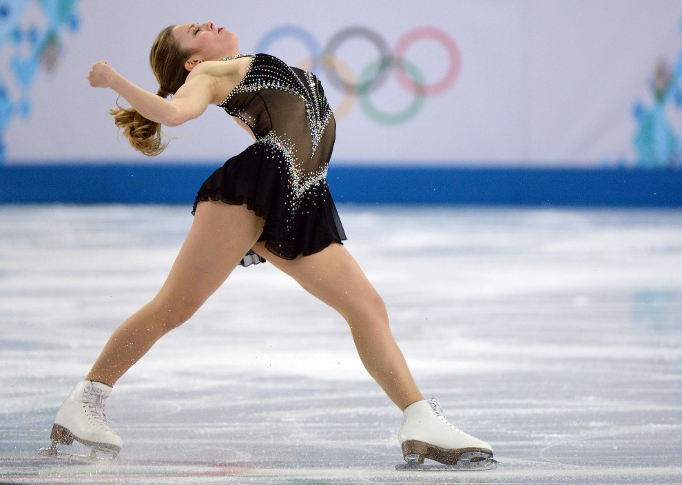 25.ROSJA, Soczi, 19 lutego 2014: Ashley Wagner podczas występu. AFP PHOTO / YURI KADOBNOV