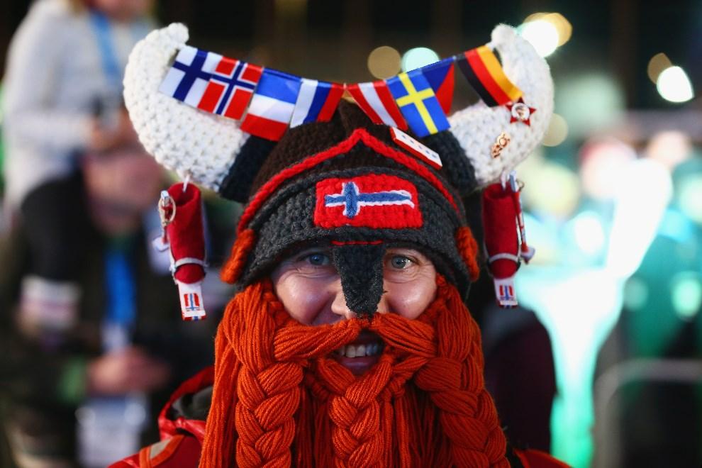 29.ROSJA, Soczi, 9 lutego 2014: Norweski kibic przebrany za wikinga. (Foto: Streeter Lecka/Getty Images)