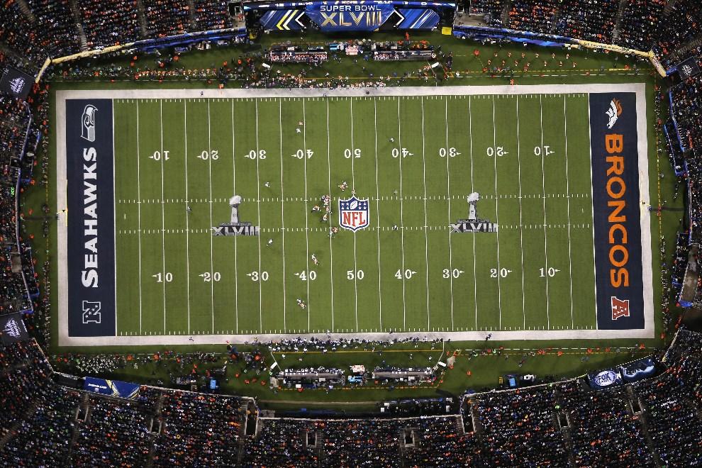 2.USA, East Rutherford, 2 lutego 2014: Widok na stadion gdzie spotkały się zespoły Seattle Seahawks i Denver Broncos. (Foto: John Moore/Getty Images)