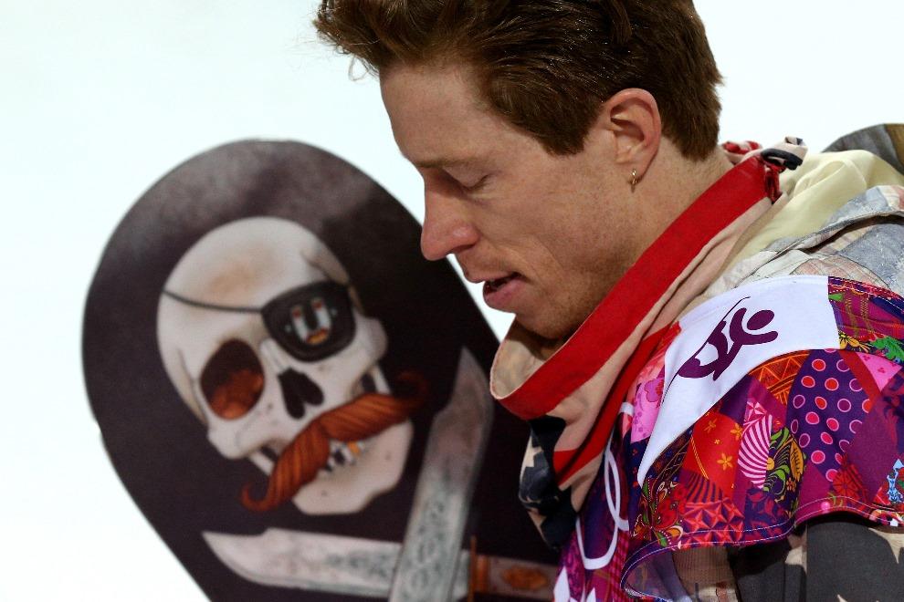 3. ROSJA, Soczi, 11 lutego 2014: Shaun White po zakończeniu przejazdu. (Foto: Cameron Spencer/Getty Images)