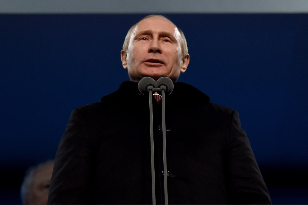 8.ROSJA, Soczi, 7 lutego 2014: Władimir Putin przemawia w trakcie uroczystości otwarcia. (Foto: Pascal Le Segretain/Getty Images)