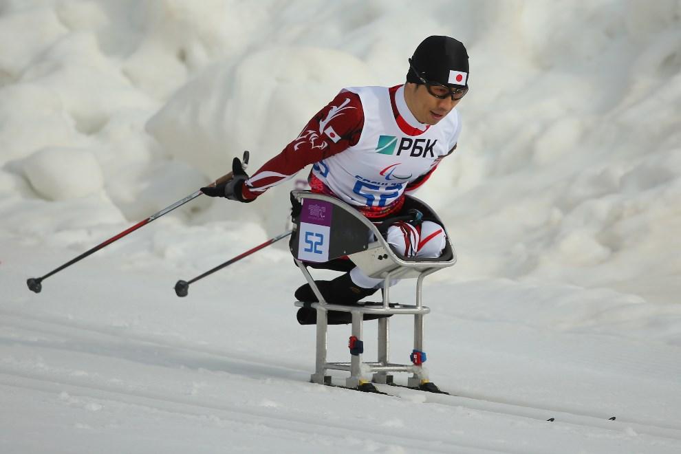 14.ROSJA, Soczi, 8 marca 2014: Japończyk Kozo Kubo na trasie biegu na dystansie 7,5 km. (Foto: Mark Kolbe/Getty Images)