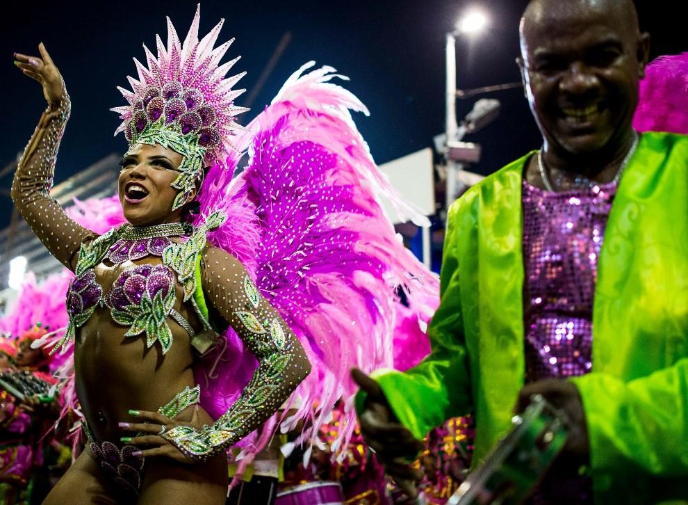 """31.BRAZYLIA, Rio de Janeiro, 2 marca 2014: Evelyn Bastos ze skzoły """"Mangueira"""". (Foto: Buda Mendes/Getty Images)"""