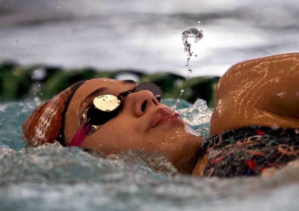 38.CHILE, Santiago, 7 marca 2014: Argentynka Macarena Cevallos trenująca przed występem na X Igrzyskach Południowoamerykańskich. AFP PHOTO/MARTIN BERNETTI