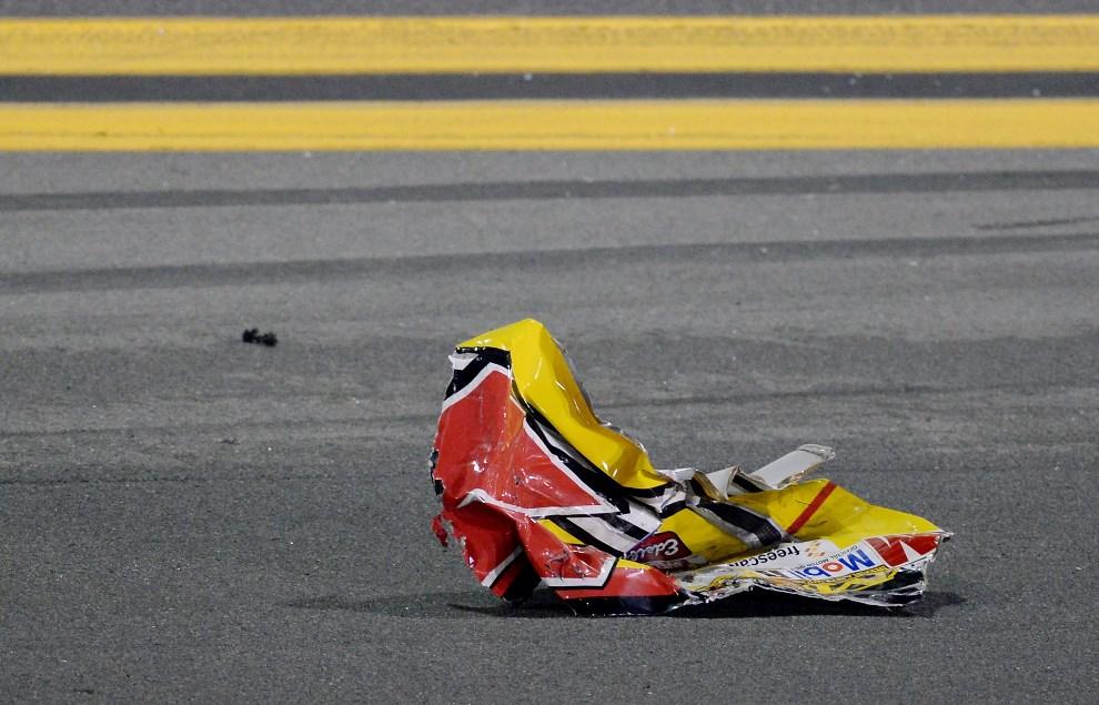 38.USA, Daytona Beach, 23 lutego 2014: Pozostałości po uszkodzonym samochodzie zespołu #7 Pilot/Flying J Travel Centers Chevrolet. (Foto: Robert Laberge/Getty   Images)
