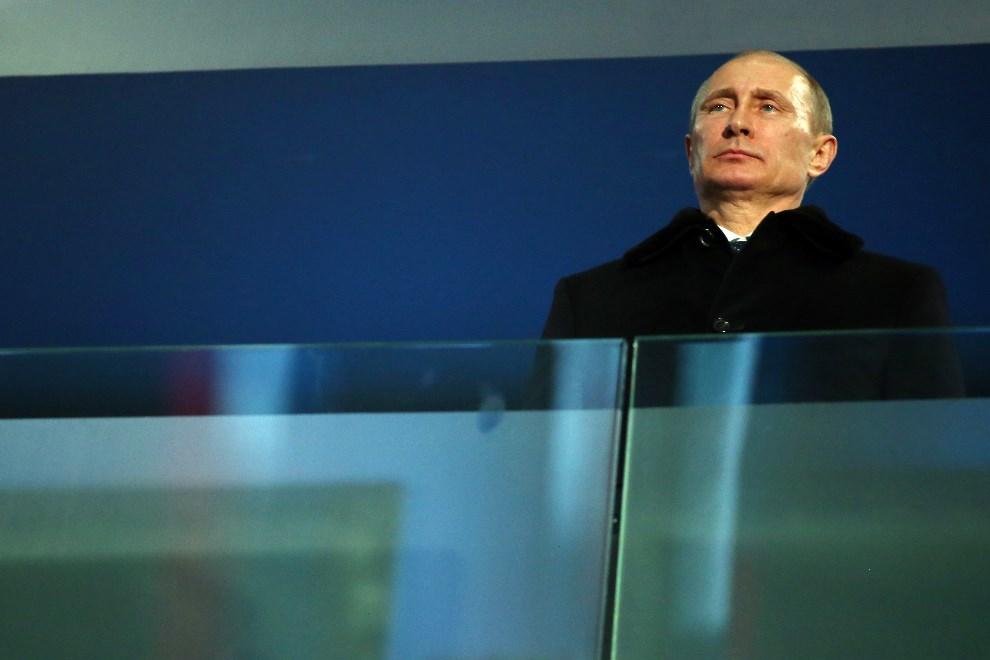 5.ROSJA, Soczi, 7 marca 2014: Władimir Putin podczas ceremonii otwarcia. (Foto: Ronald Martinez/Getty Images)