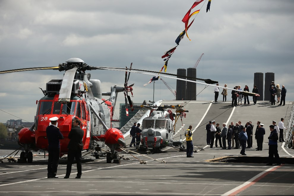 12.WIELKA BRYTANIA, Londyn, 10 maja 2013: Pokład lotnickowca HMS Illustrious. (Foto: Dan Kitwood/Getty Images)