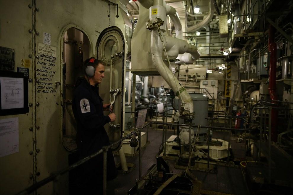 18.WIELKA BRYTANIA, Londyn, 10 maja 2013: Maszynownia lotniskowca  HMS Illustrious.  (Foto: Dan Kitwood/Getty Images)