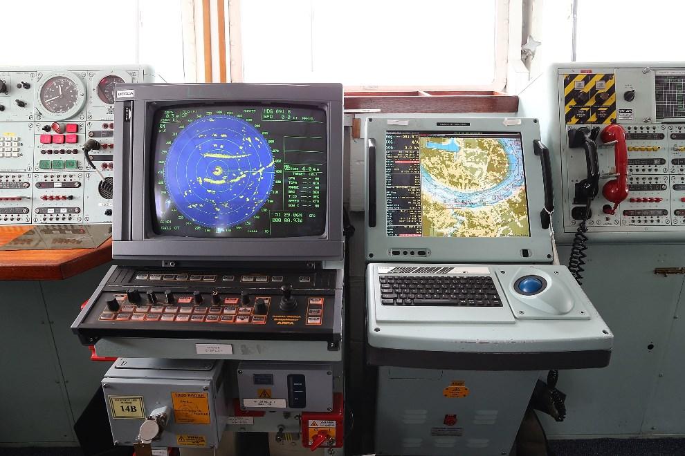 20.WIELKA BRYTANIA, Londyn, 10 maja 2013: Mostek lotniskowca HMS Illustrious. (Foto: Dan Kitwood/Getty Images)