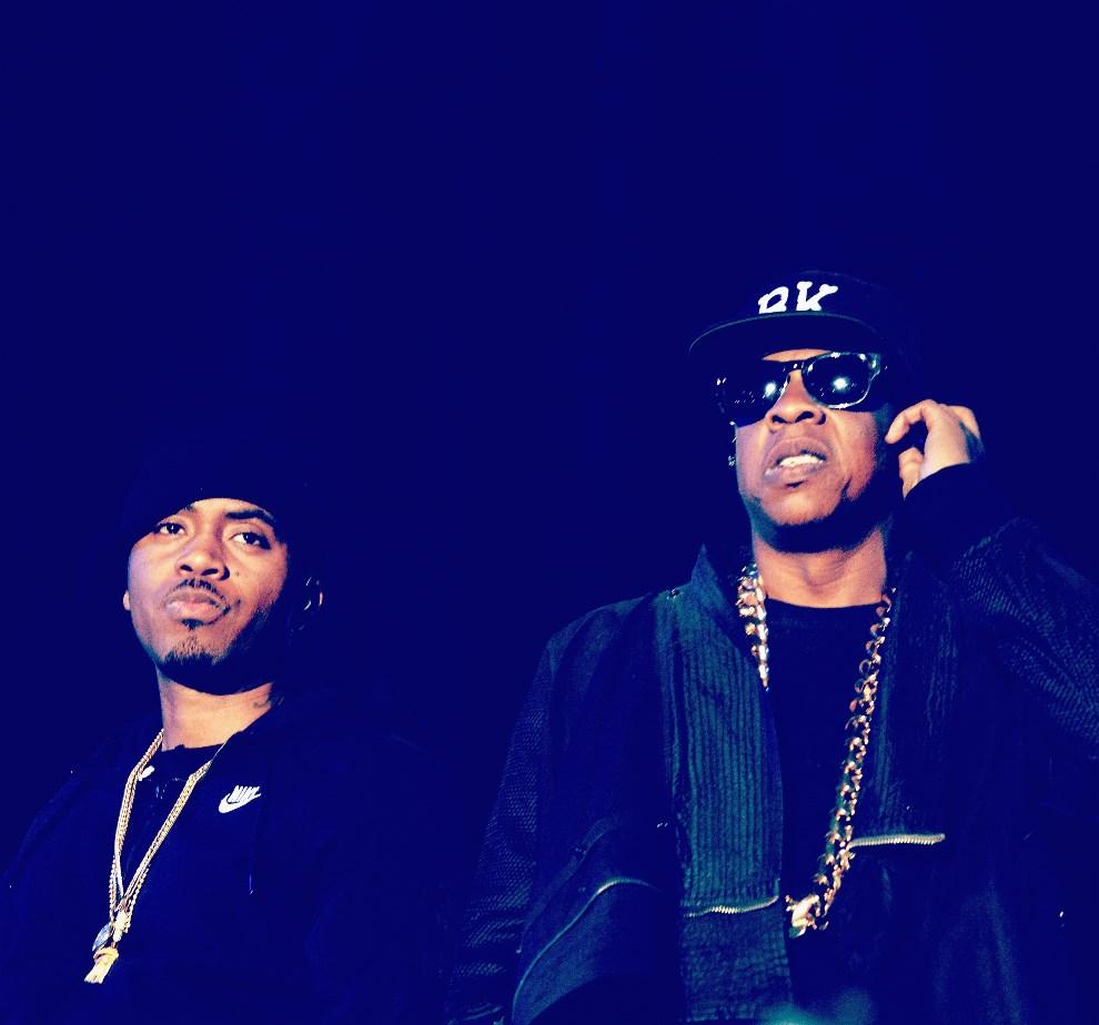 28.USA, Indio, 12 kwietnia 2014: Nas i Jay-Z w trakcie wspólnego występu. (Foto: Frazer Harrison/Getty Images for Coachella)