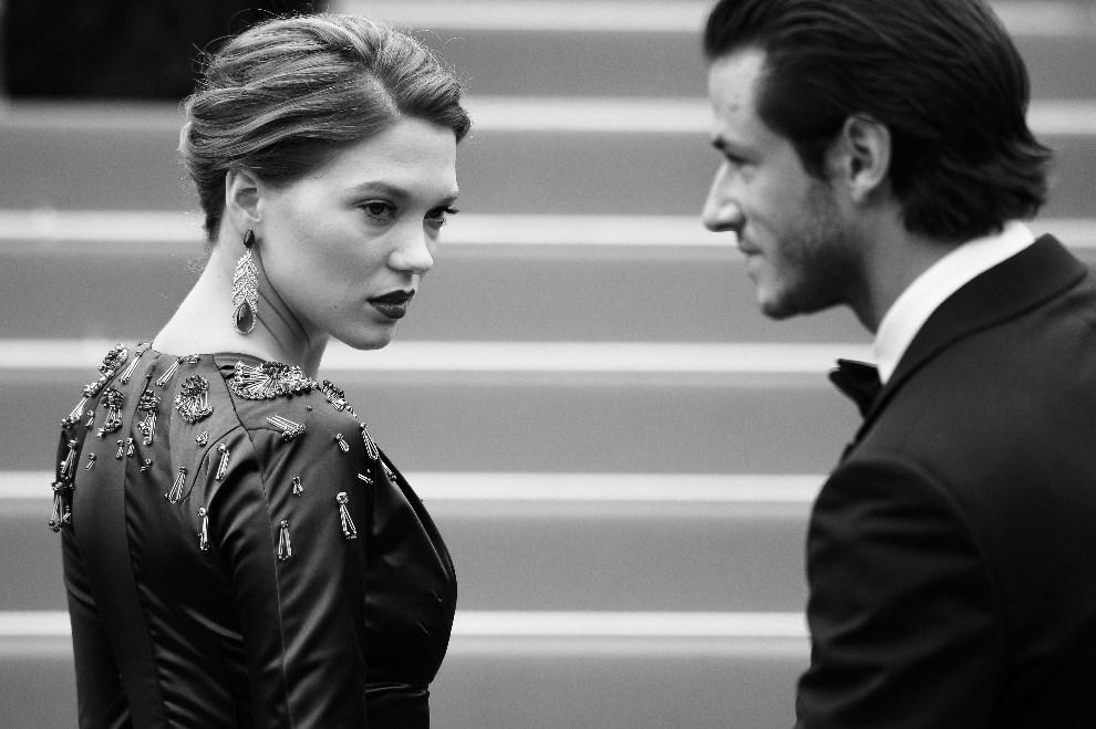 "9.FRANCJA, Cannes, 17 maja 2014: Lea Seydoux podczas premiery filmu ""Saint-Laurent"". AFP PHOTO / ALBERTO PIZZOLI"