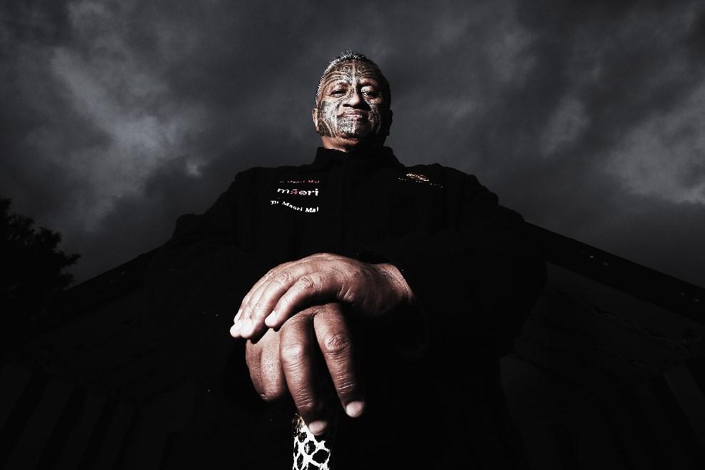 14.NOWA ZELANDIA, Auckland, 21 maja 2014: Rangi McLean, kandydat Partii Maorysów w wyborach w zbliżających się wyborach. (Foto: Hannah Peters/Getty Images)