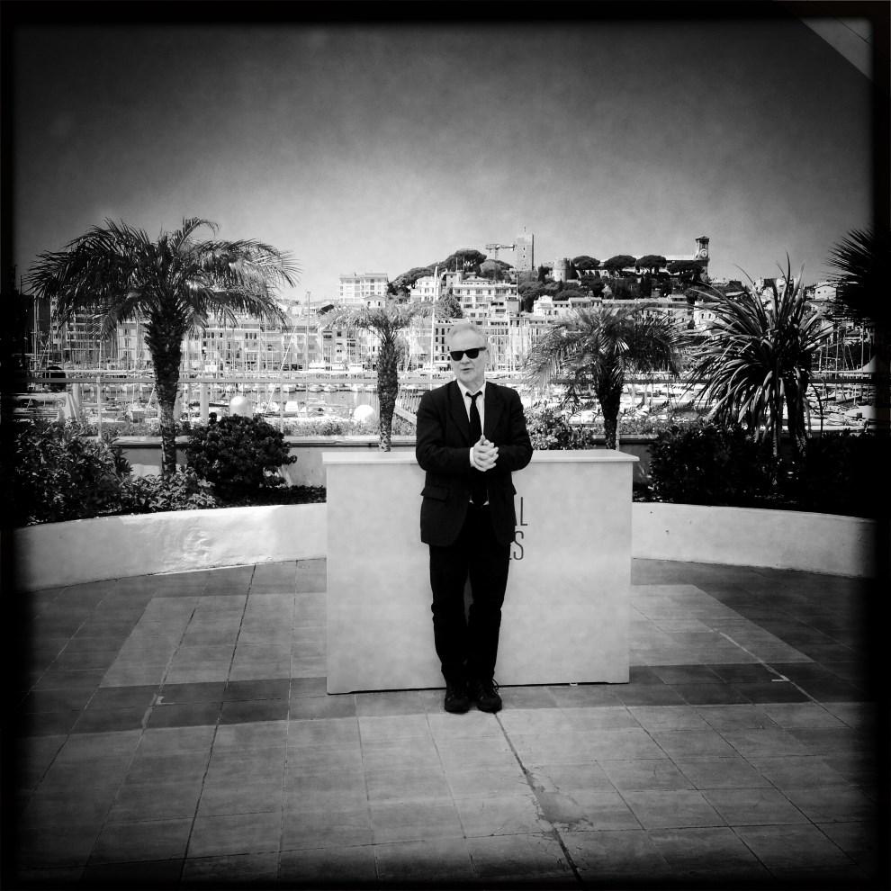17.FRANCJA, Cannes, 14 maja 2014: Thierry Fremaux podczas spotkania z dziennikarzami. AFP PHOTO / VALERY HACHE