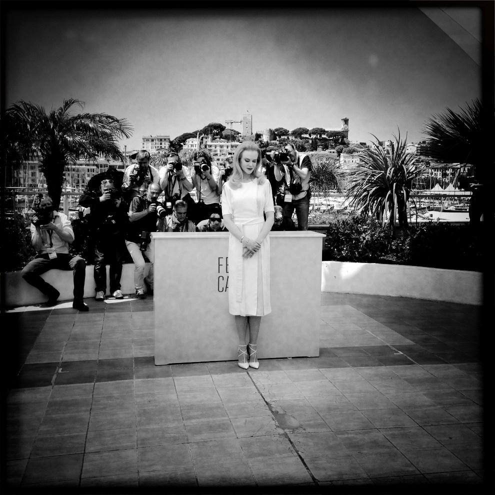 18.FRANCJA, Cannes, 14 maja 2014: Nicole Kidman podczas spotkania z dziennikarzami. AFP PHOTO / VALERY HACHE