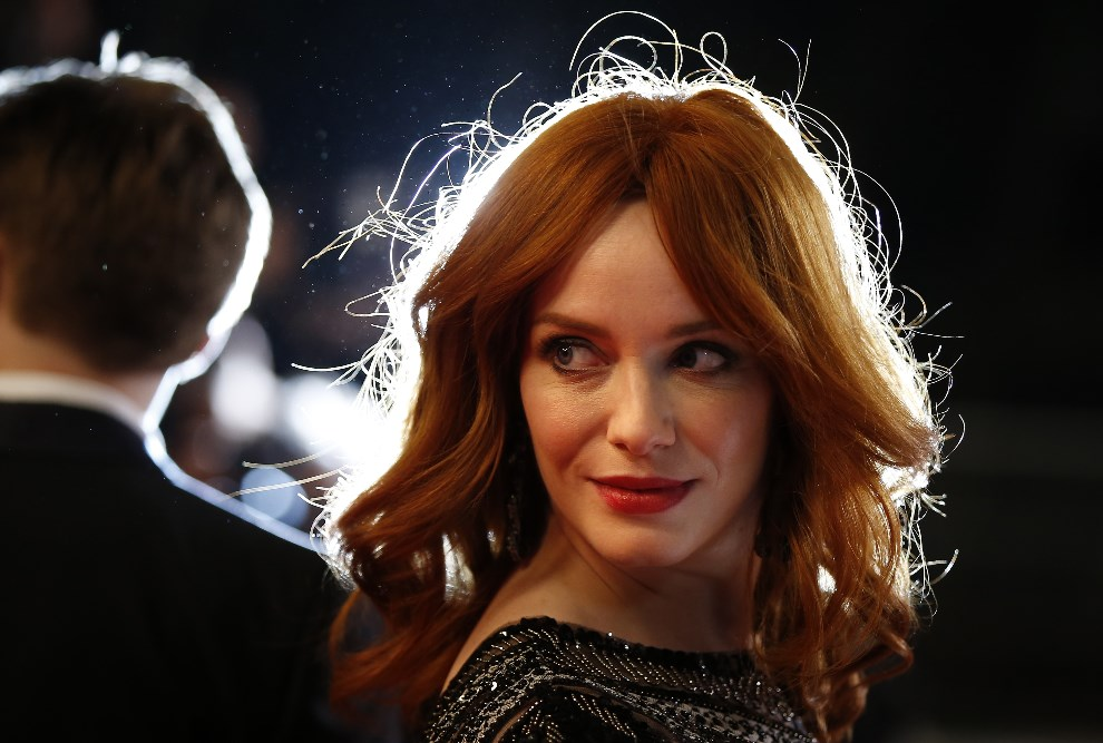 "19.FRANCJA, Cannes, 20 maja 2014:  Christina Hendricks podczas premiery filmu ""Lost River"". AFP PHOTO / VALERY HACHE"
