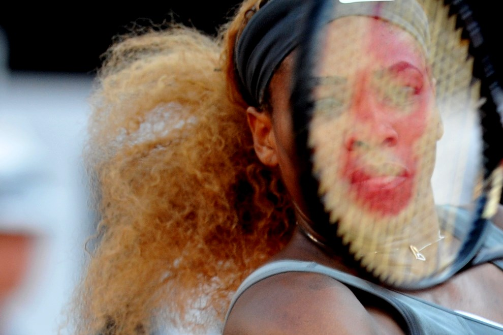 24.WŁOCHY, Rzym, 17 maja 2014: Serena Williams podczas pojedynku z Aną Ivanovic. AFP PHOTO / TIZIANA FABI