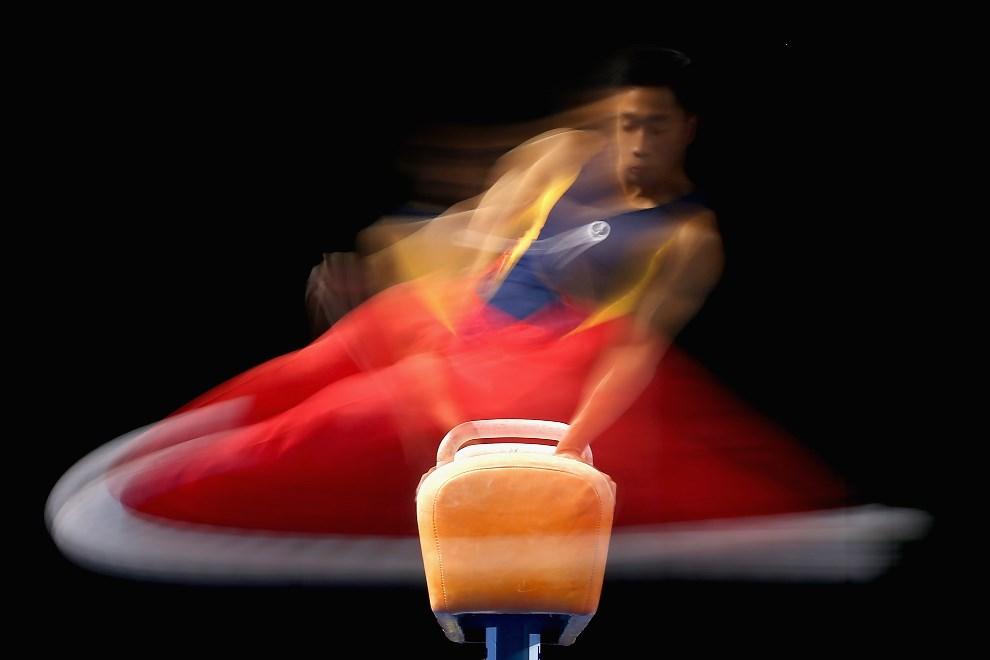 24.AUSTRALIA, Melbourne, 24 maja 2014: Christopher Rem podczas występu na krajowych mistrzostwach. (Foto: Quinn Rooney/Getty Images)