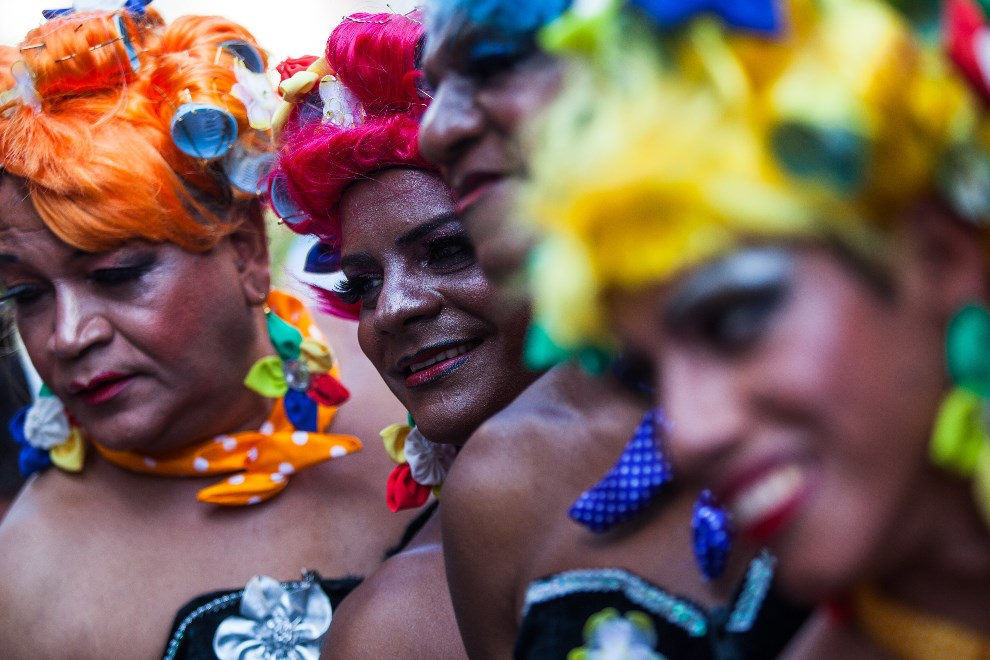 25.BRAZYLIA, Sao Paulo, 4 maja 2014: Uczestnicy Gay Pride Parade w Sao Paulo. (Foto: Victor Moriyama/Getty Images)