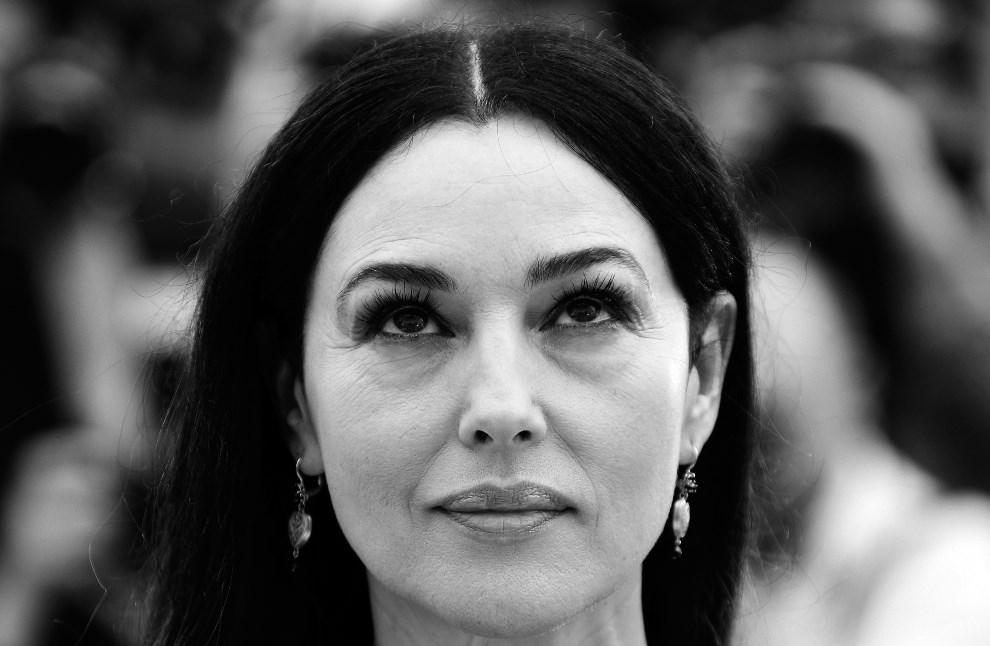 "2.FRANCJA, Cannes, 18 maja 2014: Monica Bellucci podczas premiery filmy ""Le Meraviglie (The Wonders)"". AFP PHOTO / LOIC VENANCE"