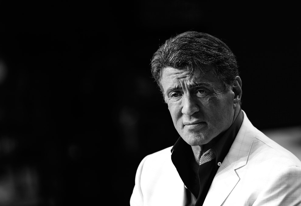 "3.FRANCJA, Cannes, 17 maja 2014: Sylvester Stallone podczas nagrania program ""Le Grand Journal"". AFP PHOTO / LOIC VENANCE"