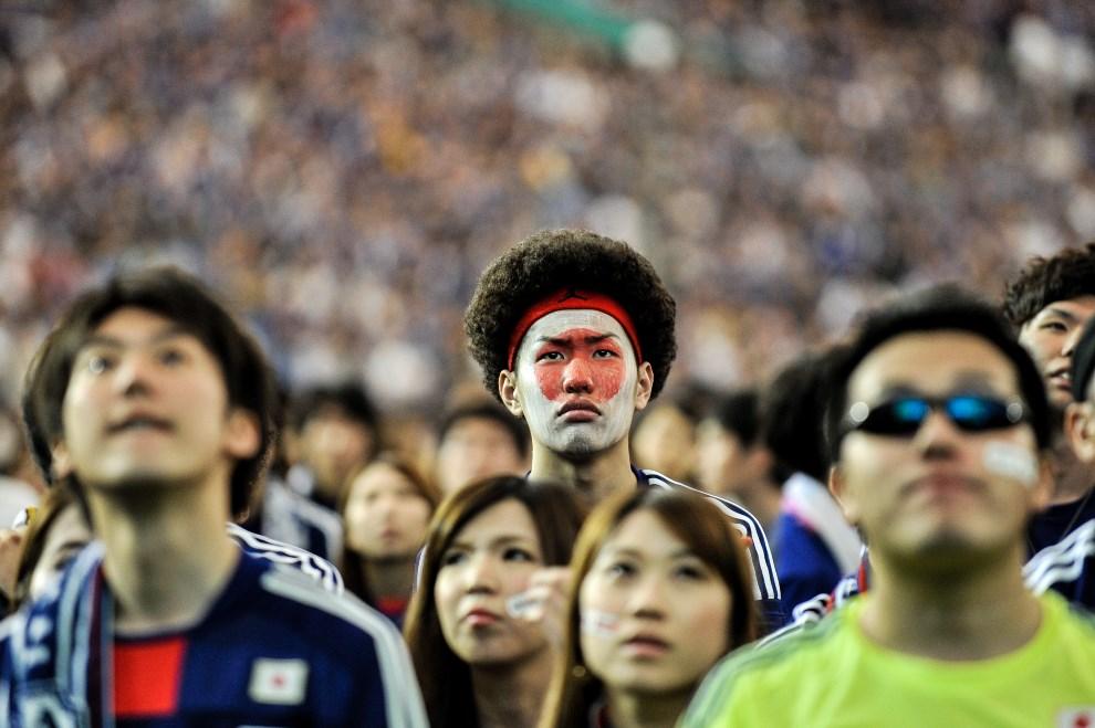17.JPOANIA, Tokio, 15 czerwca 2014: Japońscy kibice po przegranym meczu z WKS. (Foto: Keith Tsuji/Getty Images)